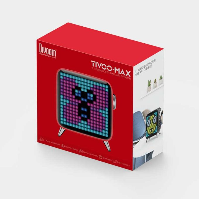 Divoom Tivoo-Max Red